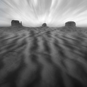 Monument Valley Framed Prints - Weathered Framed Print by Mike McGlothlen