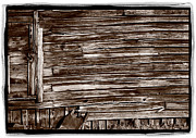 Town Photo Originals - Weathered Wall In Bodie Ghost Town by Steve Gadomski