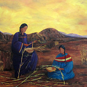 Baskets Photos - Weavers by Roseann Gilmore