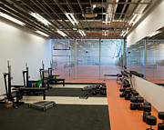 Backboard Prints - Weight Room in a Gymnasium Print by Jaak Nilson