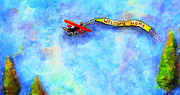 Plane Paintings - Welcome Home by Claire Sallenger Martin