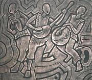 Drum Reliefs - Welcome Home by Sylvester Banahene