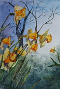 Patsy Sharpe Painting Metal Prints - Welcome Springtime Metal Print by Patsy Sharpe