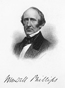 Abolition Photo Framed Prints - Wendell Phillips (1811-1884) Framed Print by Granger