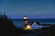 Maine Lighthouses Posters - West Quoddy Head Lighthouse Poster by John Greim