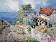 Picket Fence Posters - Westport by the Sea Poster by Joyce Hicks