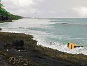 Wet Guitar Print by Tony Rodriguez