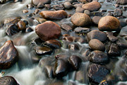 Temperance River Posters - Wet Rocks Poster by Steve Stuller