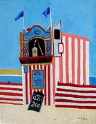 Punch Paintings - Weymouth Punch and Judy by Lesley Giles