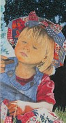 Material Pastels Posters - Whats This Poster by Terri Thompson