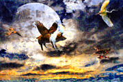 Dreams Digital Art - When Pigs Fly by Wingsdomain Art and Photography