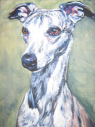 Whippet Framed Prints - Whippet Framed Print by Lee Ann Shepard
