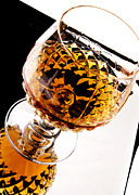 Crystal Metal Prints - Whiskey in glass Metal Print by Blink Images