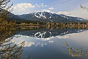 Whistler Blackcomb Green Lake Reflection Print by Pierre Leclerc Photography