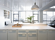 White Counters And Dining Area Print by Andersen Ross