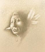 White Feather Print by Robert Martinez