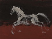 Wild Horse Prints - White Horse Print by Sophy White