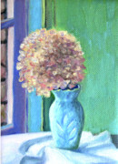 Dried Hydrangeas Prints - White Hydrangea Print by Jane  Simonson