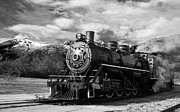 Signed Photo Prints - White Pass Locomotive Print by William Jones