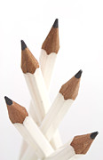 Pencil Glass - White pencils by Blink Images