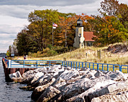 White River Photo Metal Prints - White River Lighthouse Metal Print by Jack Schultz