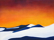 Sand Dunes Paintings - White Sands by Trish Booth