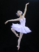Ballerina Sculpture Posters - White Swan Poster by Vickie Arentz
