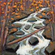 Liberty Paintings - White Water Creek by Mary Byrom