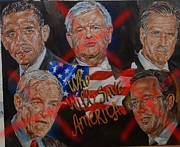Romney Paintings - Who will save America by Alex Krasky