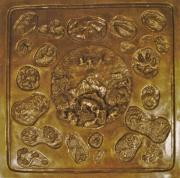 Bronze Reliefs Framed Prints - Wild and Free Framed Print by Dawn Senior-Trask