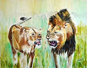 Portrait Paintings - wild Kingdom by Judy Kay