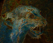 Growling Art - Wildcat by David Lee Thompson