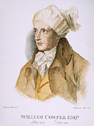 Turban Framed Prints - William Cowper (1731-1800) Framed Print by Granger