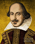 Romance Renaissance Posters - William Shakespeare, English Poet Poster by Science Source