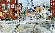 City Scape Paintings - Williamsburg3 by Joan De Bot