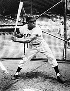 Baseball Bat Metal Prints - Willie Mays (1931- ) Metal Print by Granger