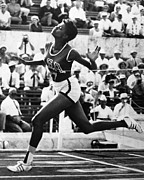 African-american Photo Framed Prints - Wilma Rudolph (1940-1994) Framed Print by Granger