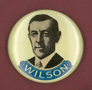 1916 Photos - Wilson Campaign Button by Granger