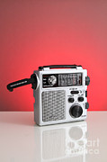 Analog Prints - Wind-up Radio Print by Photo Researchers, Inc.