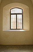 Stone Home Posters - Window In An Old Ottoman Style Building Poster by Noam Armonn