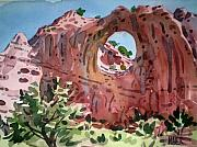 Tribal Painting Originals - Window Rock by Donald Maier