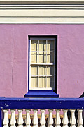 White Frame House Prints - Windows of Bo-Kaap Print by Benjamin Matthijs