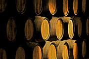 Aging Framed Prints - Wine Barrels Framed Print by David Letts