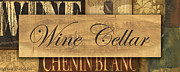 Vino Painting Framed Prints - Wine Cellar Collage Framed Print by Grace Pullen