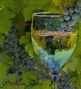 White Grape Photos - Wine Glass by Stephanie Laird