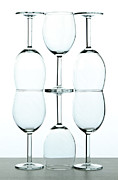 Wine Reflection Art Photos - Wine glasses by Blink Images