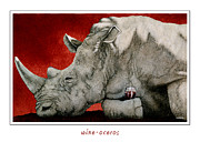 Wine Paintings - Wine Oceros by Will Bullas