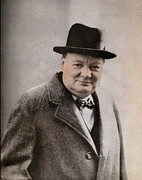 British Prime Minister Photos - Winston Churchill, 1874-1965 British by Everett