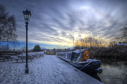 Sunset Framed Prints Framed Prints - Winter At The Boat Inn Framed Print by Yhun Suarez