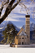 Germany Photo Originals - Winter Church in Bavaria by Brian Jannsen
